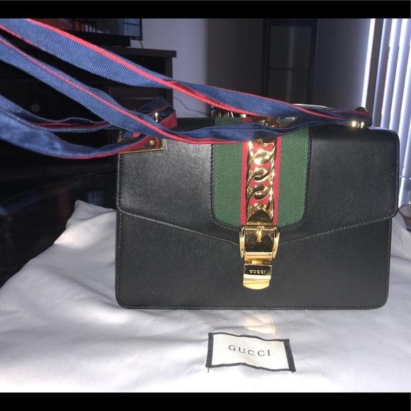 37f5d9382b2 Gucci Handbags - GUCCI Sylvie small chain leather shoulder bag